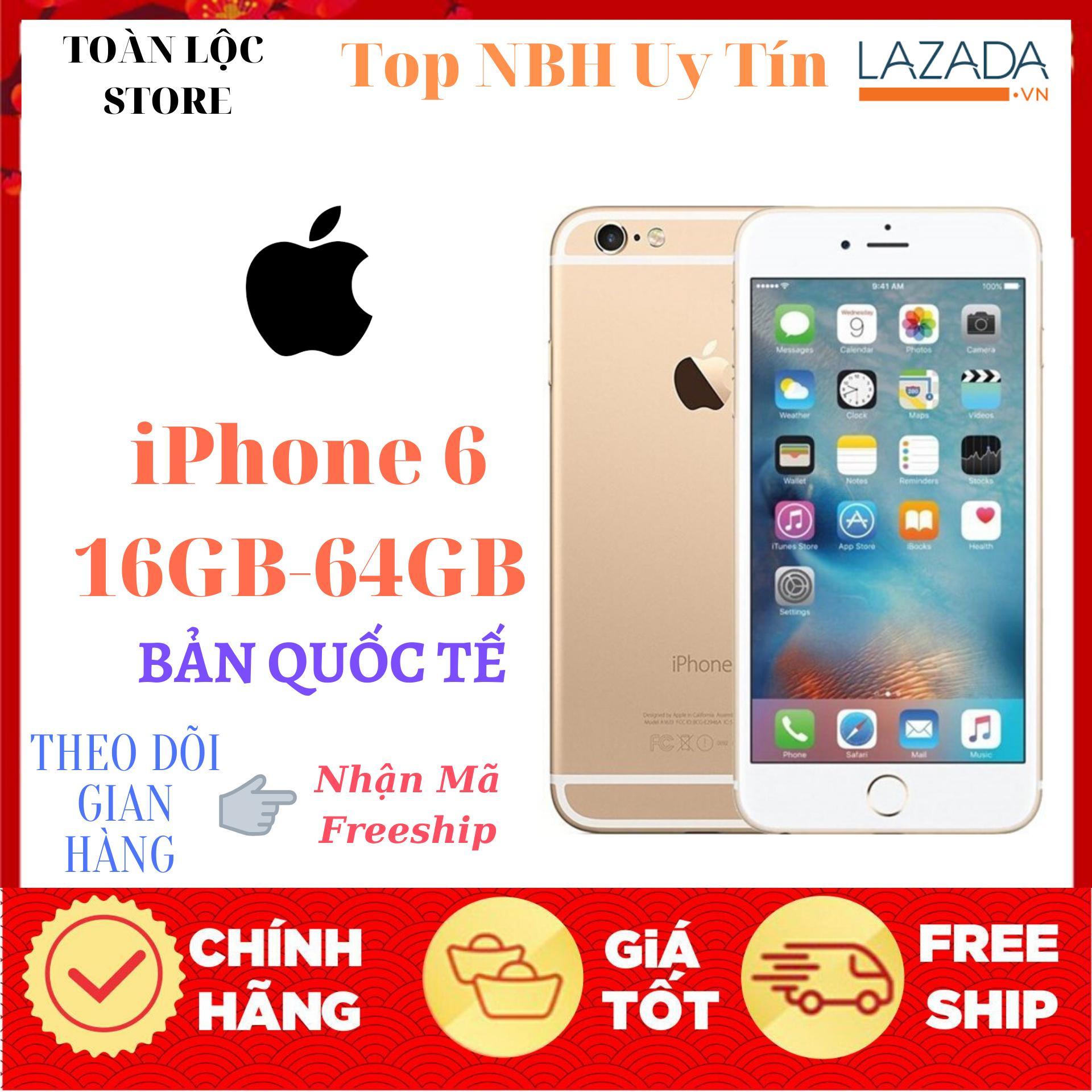 """Điện Thoại Apple Iphone 6 64Gb- Bản Quốc Tế Màn hình: LED-backlit IPS LCD, 4.7"""";, Retina HD - CPU Apple A8 2 nhân-Mới Full Chức Năng Bảo Hành 1 Đổi 1 miễn phí tận nhà"""