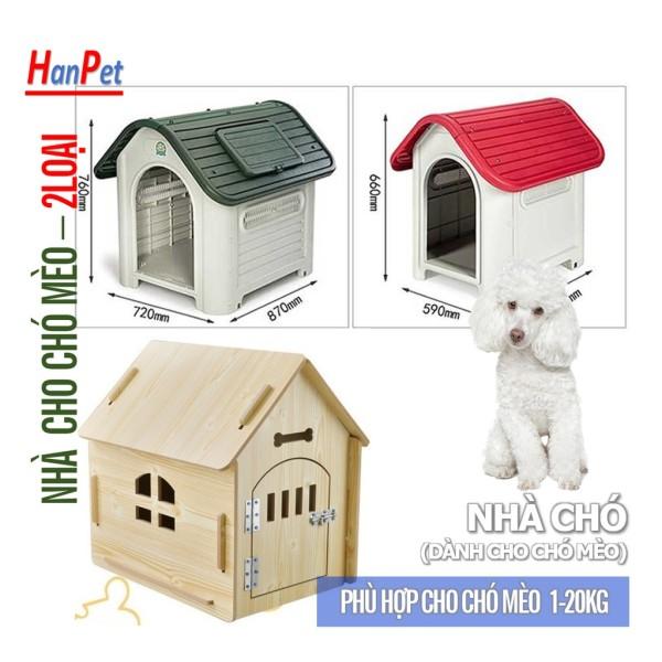 (2 loại) Nhà cho chó mèo ở - NHÀ NHỰA ( UP 4711722)
