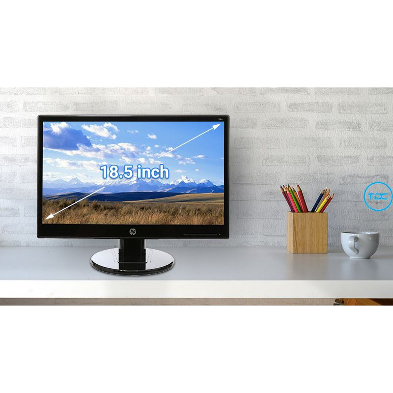 Màn hình máy tính HP LCD 19KA 18.5 inch HD (T3U82AA). Hàng chính hãng. Bảo hành 36 tháng