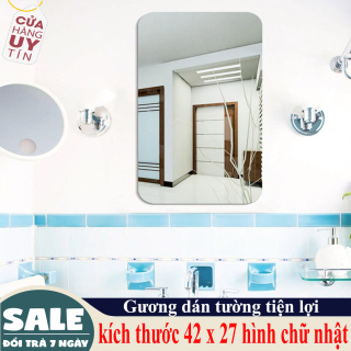 [ HÀNG MỚI ] Gương dán tường- Gương dán tường 3D siêu rõ nét kích thước 42 x 27 hình chữ nhật, Gương Trang Điểm, Gương Soi Toàn Thân, Guơng Trang Trí Phong tắm thumbnail