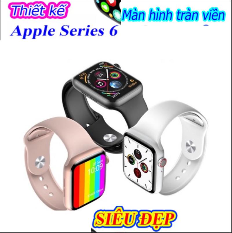 [ PHIÊN BẢN MỚI] Đồng Hồ Thông Minh Apple Watch Series 6 W26, Touch Screen Full 1.75 Inch, , Smartwatch Sử Dụng Chip S6 Đa Chức Năng, -Chống NướcIP68 -Kết Nối Điện Thoại Qua BlueToothBlueTooth-Hiển  Thị Cuộc Gọi -Tin Nhắn