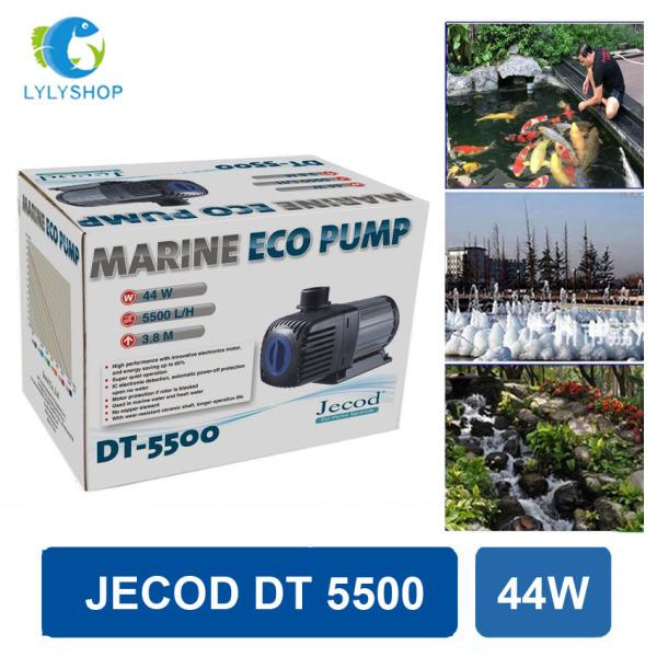 44W- 5500L/Hr - Máy bơm nước hồ cá JECOD DT 5500, phi ống 42, lõi trục gốm, tiết kiệm điện, dễ lắp đặt. Bảo hành 6 tháng