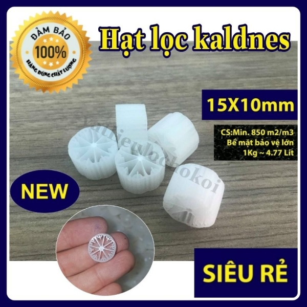 hạt lọc kaldnes 12 cánh (5kg) hạt kanet đệm vi sinh - vật liệu lọc