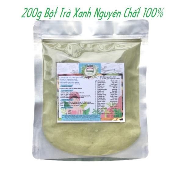 Bột trà xanh 100g-200g có giấy VSATTP và ĐKKD nguyên chất thiên nhiên 100% dùng để đắp mặt đa công dụng