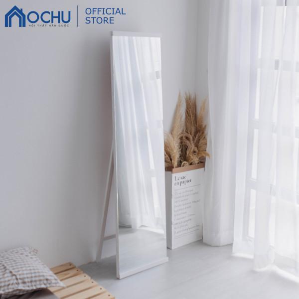 Gương Đứng Soi Toàn Thân Tràn Viền Khung Gỗ OCHU - A Mirror - White
