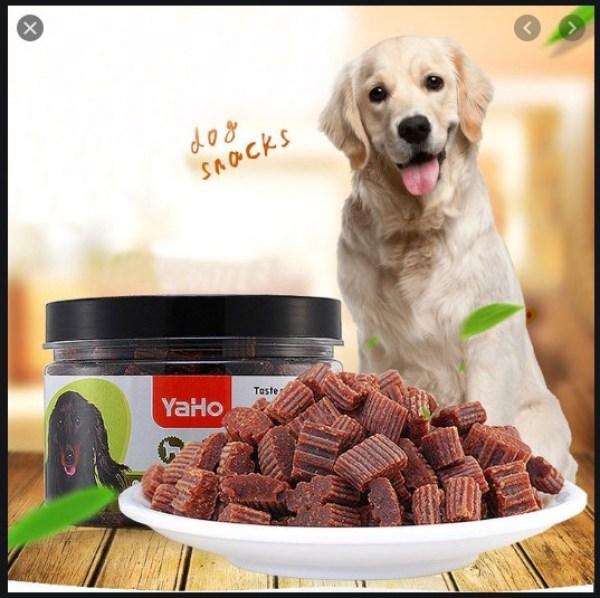 Thịt thưởng YaHo dạng viên vị gà, sạch răng lợi nứu, giảm mùi hôi răng miệng 275g/hộp