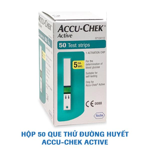 Nơi bán Que thử đường huyết Accu-Chek Active. Hộp 50 que