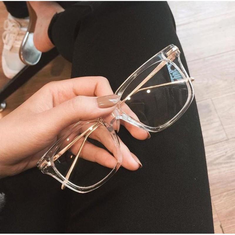 Giá bán Gọng kính dáng vuông trong suốt trang trọng cho nam nữ - H55-01