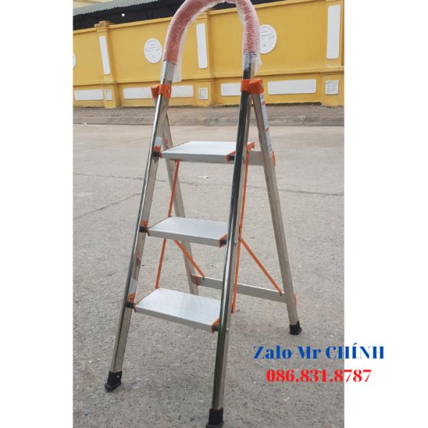 [Lấy mã giảm thêm 30%]Thang nhôm ghế gia đình NDI-03 - 3 bậc. Chiều cao sử dụng : 73 cm tính từ mặt đất