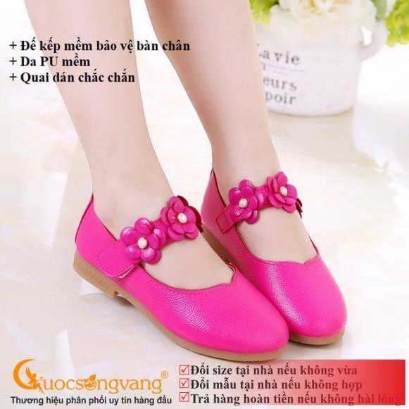 Giày bé gái búp bê giày búp bê quai dán GLG018-hongsen giá rẻ