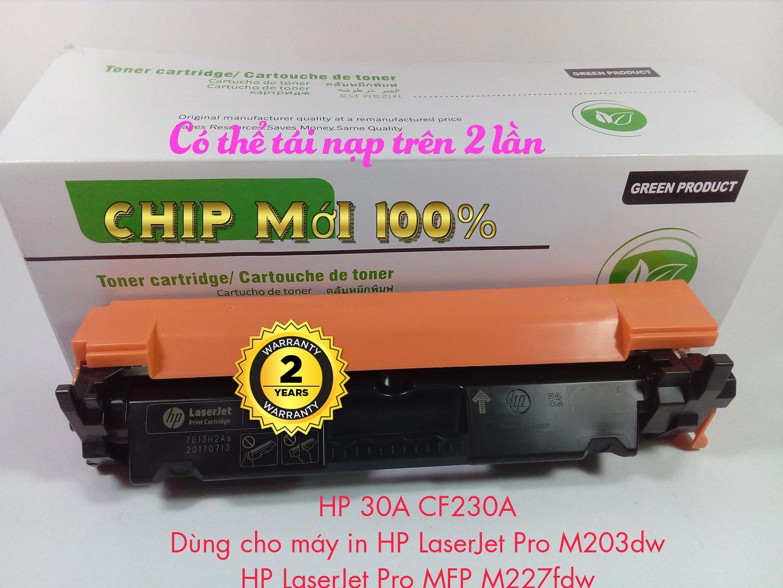 Hộp mực HP 30A CF230A-Có thể tái nạp-dùng cho máy in HP LaserJet Pro M203dw,MFP M227fdw