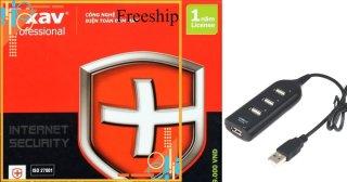 [Freeship Max] Phần mềm diệt virut Bkav Pro Internet Security tặng bộ chia USB 4 cổng 1000000319+1000000056 thumbnail