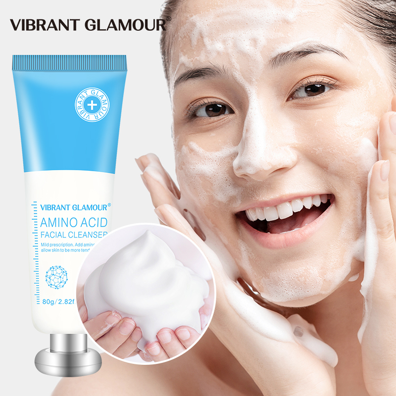 VIBRANT GLAMOUR Amino Acid Facial Cleanser Moisturizing Shrink Pores Oil Control Removing Acne Nourishing Whitening Facial care 80g giá rẻ