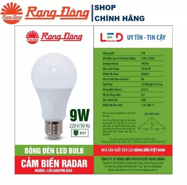 Đèn LED Cảm Biến Chuyển Động 9W/15W Rạng Đông, ChipLED Samsung