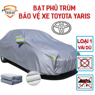 [TOYOTA YARIS] Bạt vải dù oxford bảo vệ xe ô tô Toyota Yaris phủ trùm kín cao cấp , áo trùm xe 5 chỗ chống nắng, chống nóng, chống xước, chống mưa ngoài trời, bề mặt ngoài mịn bóng , bac phu oto, xe hơi thumbnail