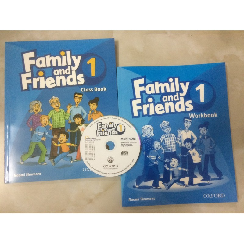 Sách Nhập - Family and Friend 1- SB + WB - Bản Gốc, Sách In Chất Lượng Cao
