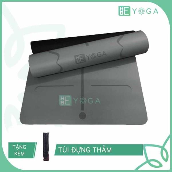 Bảng giá Thảm Tập Yoga Định Tuyến Hebeyoga Pu Cao Su 5mm Cao Cấp Kèm Túi