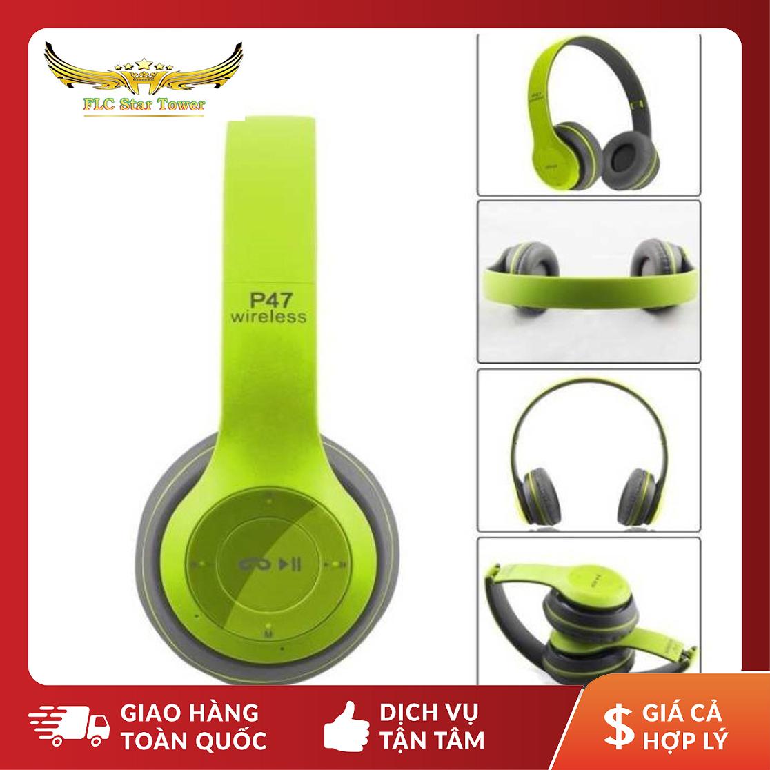 (HOT) Tai nghe - Headphone chính hãng, Tai Nghe Bluetooth P47 Có Khe Cắm Thẻ Nhớ - Âm Thanh Đỉnh Cao + Cáp Sạc + Dây Kết Nối 2 Đầu 3.5 + Chọn Màu Thoải Mái + Bảo Hành 6 Tháng Lỗi 1 Đổi 1 .