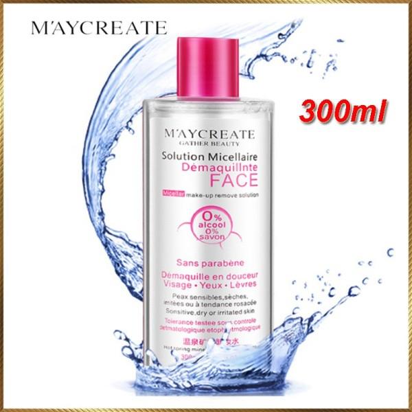 Nước tẩy trang Maycreate 300ml tẩy sạch các chất bẩn và làm mịn da (HÀNG HOT) nhập khẩu