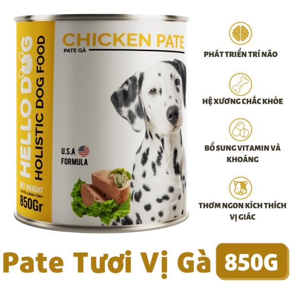 Pate Tươi Cho Chó Mọi Lứa Tuổi Vị Gà - Hello Dog Chicken Pate 850G