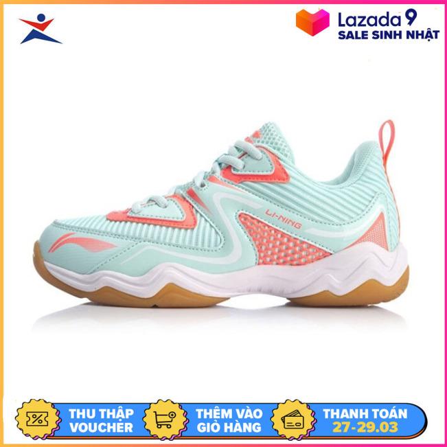 Giày đánh cầu lông nữ Li-ning AYTQ036-2 giày đế kếp chống trơn trượt tuyệt đối chơi được sân bê tông-giày thể thao nam nữ-giày đánh bóng chuyền giá rẻ