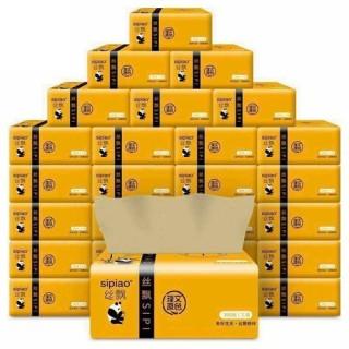 Một thùng 30 gói giấy ăn gấu trúc Sipiao, Khăn Giấy Ăn Gấu Trúc SIPIAO Siêu Dai 300 Tờ, giấy ăn siêu dai, giấy không tẩy trắng, mềm mịn thumbnail