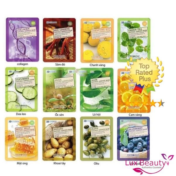Mặt nạ giấy 3d food a holic natural essence mask nhập khẩu