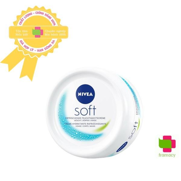 Kem dưỡng ẩm Nivea Soft, Đức (200ml) ngăn ngừa nứt nẻ, bong tróc, nuôi dưỡng làn da mềm mại cho mọi loại da cao cấp