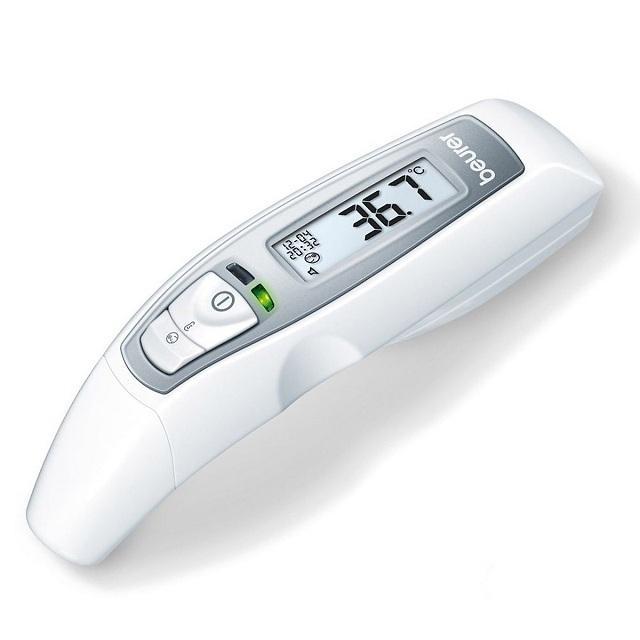 Nhiệt kế điện tử Beurer FT65 - Nhiệt kế hồng ngoại - Nhiệt kế điện tử của Đức đo tai và trán chính xác - Nhiệt kế điện tử tốt tặng kèm miếng dán hạ sốt (miếng dán lạnh)