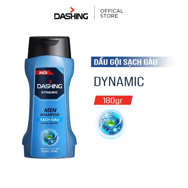Dầu gội Dashing Dynamic sạch gàu dành cho nam giới 180g, thành phần an toàn, không gây kích ứng da đầu, phù hợp với mọi loại da đầu