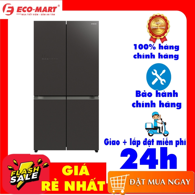 Tủ lạnh Hitachi màu gương xám R-WB640VGV0(GMG) mặt gương xám