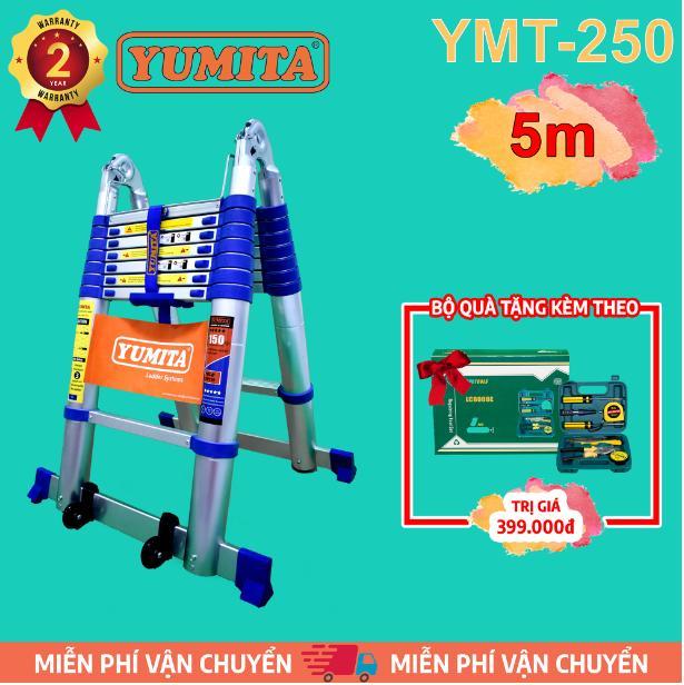 Thang nhôm rút đôi YUMITA 5m YMT-250