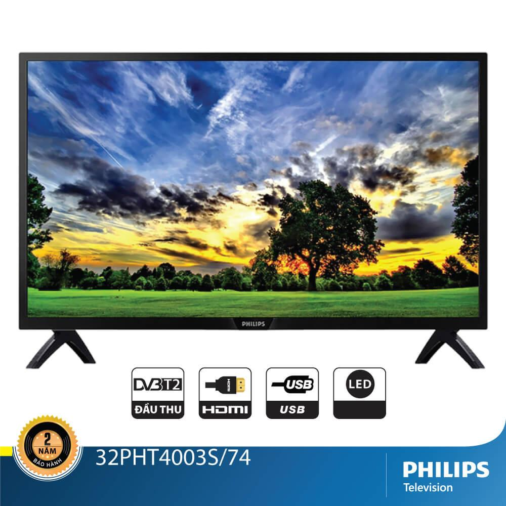 Bảng giá Tivi Philips Led HD 32 inch 32PHT4003S/74