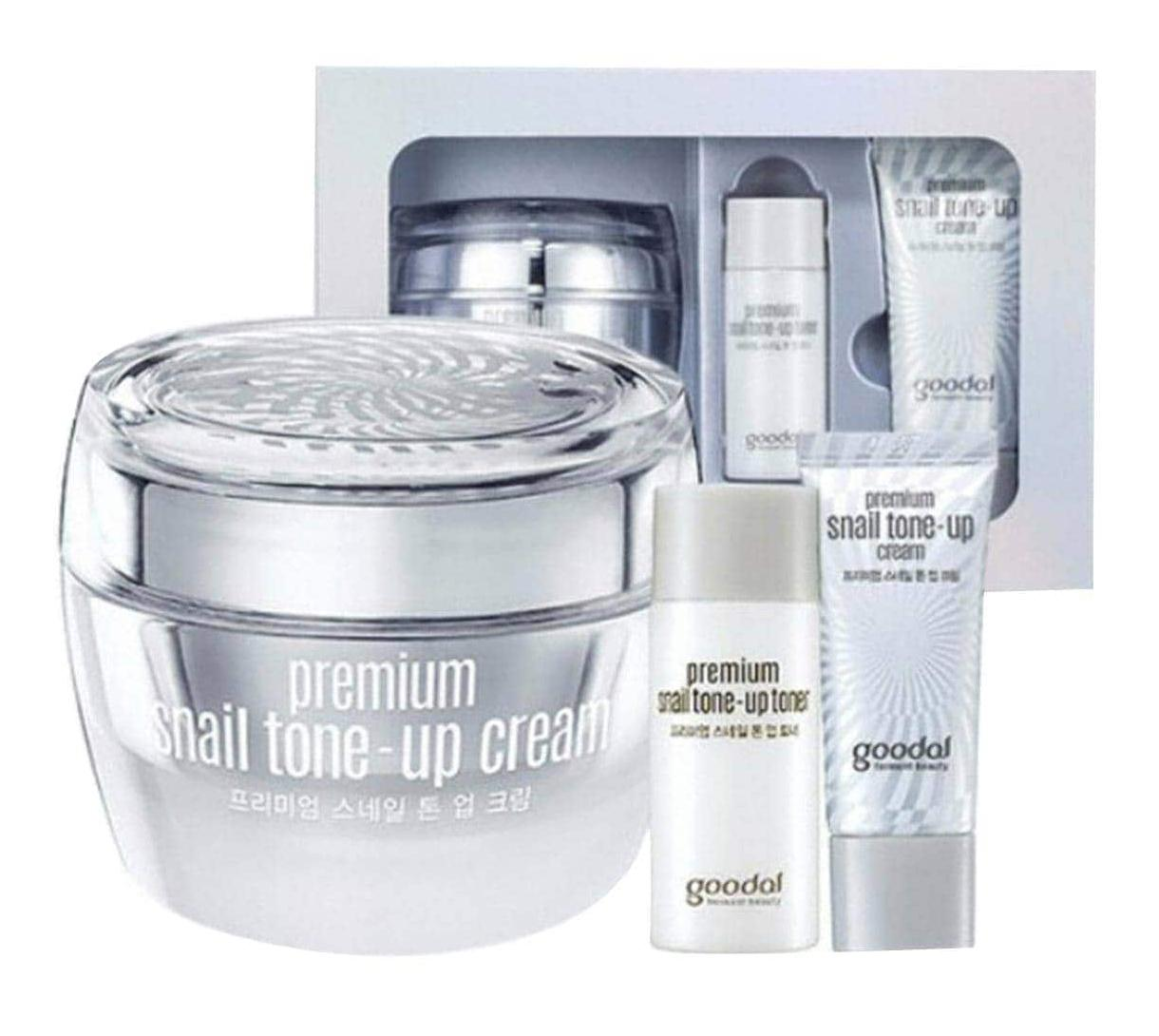 Set Dưỡng Trắng Da Ốc Sên Goodal Premium Snail Tone Up Cream Special Set