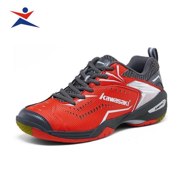Giày cầu lông Kawasaki K526 mẫu mới, êm ái, thoáng khí, dành cho nam và nữ, màu đỏ đủ size - giầy cầu lông nam nữ - Giầy đánh bóng chuyền -sportmaster