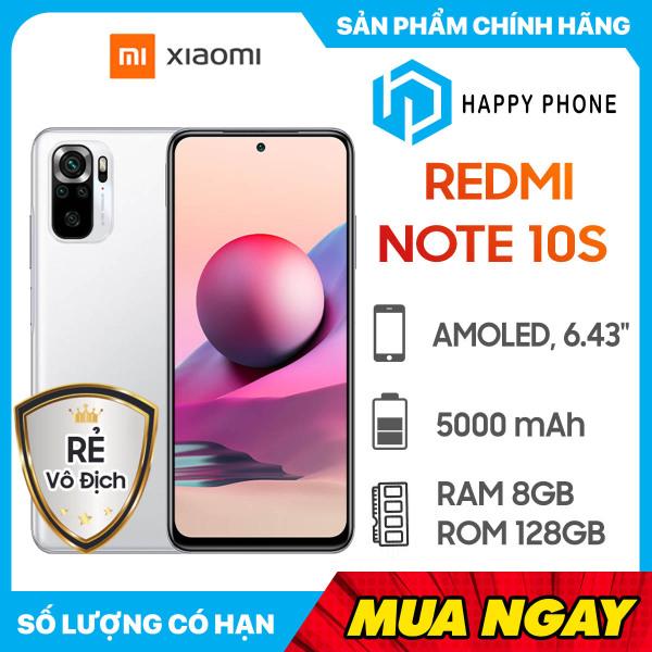 [Trả góp 0%] Điện thoại  Xiaomi Redmi Note 10S (8GB/128GB) - Hàng chính hãng, mới 100%, Nguyên Seal | Bảo hành 18 tháng