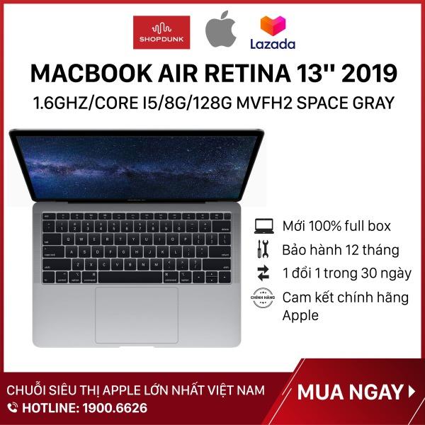 Bảng giá Laptop Macbook Air Retina 13 inch 2019 1.6GHz/core i5/8G/128G, Space Gray MVFH2, Hàng chính hãng Apple, Hàng mới 100%, Nguyên seal, Bảo hành 12 tháng - Shopdunk Phong Vũ