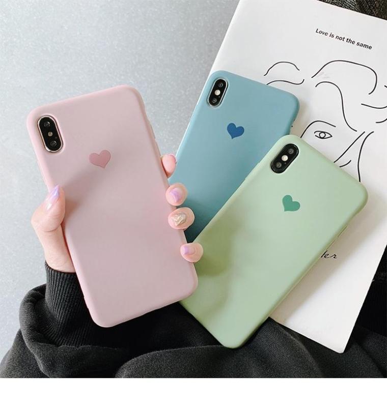 Giá Ốp Lưng iPhone Dẻo Trái Tim Có 5 Màu ( Từ iPhone 6 đến XS Max ) [ TI STORE ]