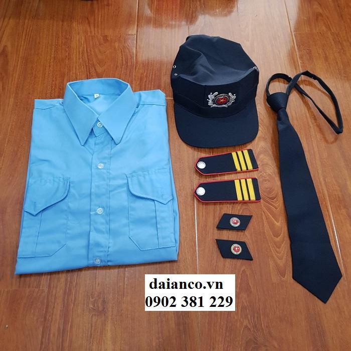 HOT SALES - Bộ quần áo đồng phục bảo vệ xanh dương - đủ size, đủ cấp bậc, đủ phụ kiên