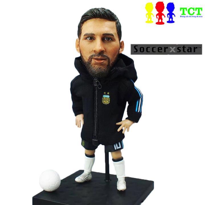 Tượng cầu thủ bóng đá SoccerXstar Messi M10 Argentina