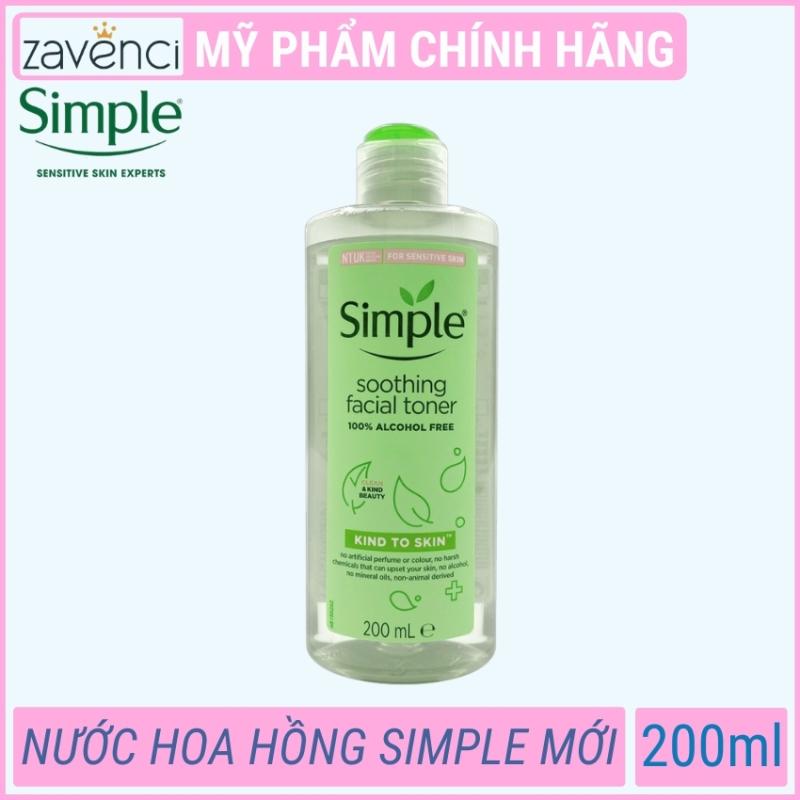 Nước Hoa Hồng Simple Kind To Skin Soothing Facial Toner Siêu Dịu Nhẹ Cho Làn Da (200ml)