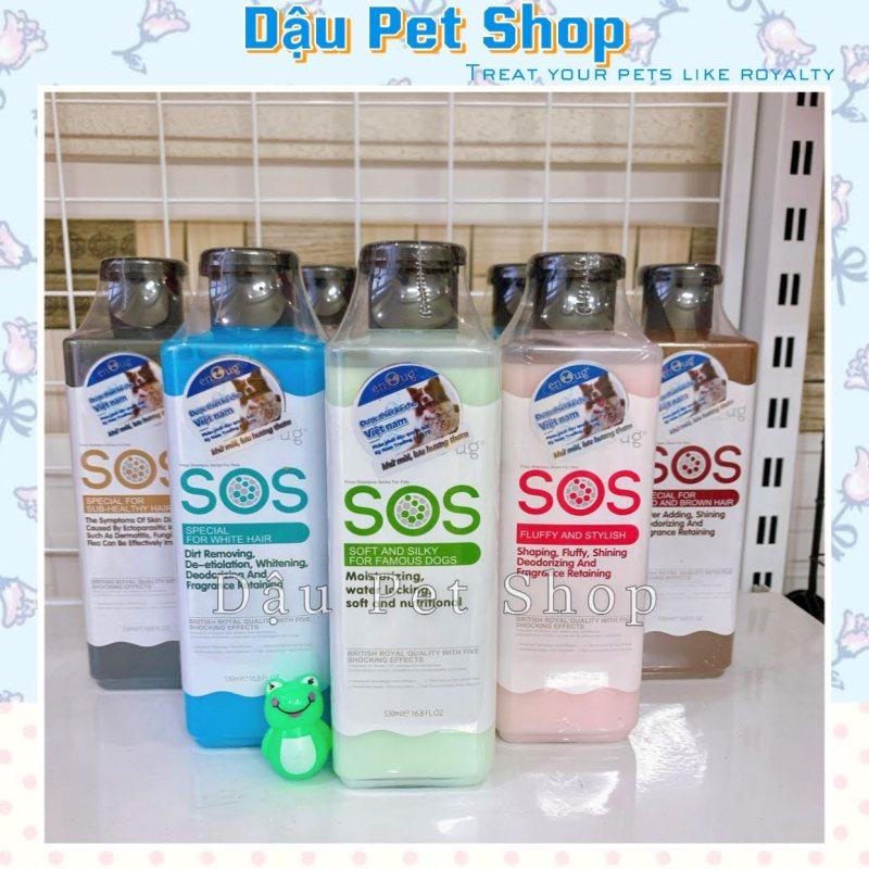 Sữa tắm Sos cho chó mèo khử mùi vượt trội - Đen