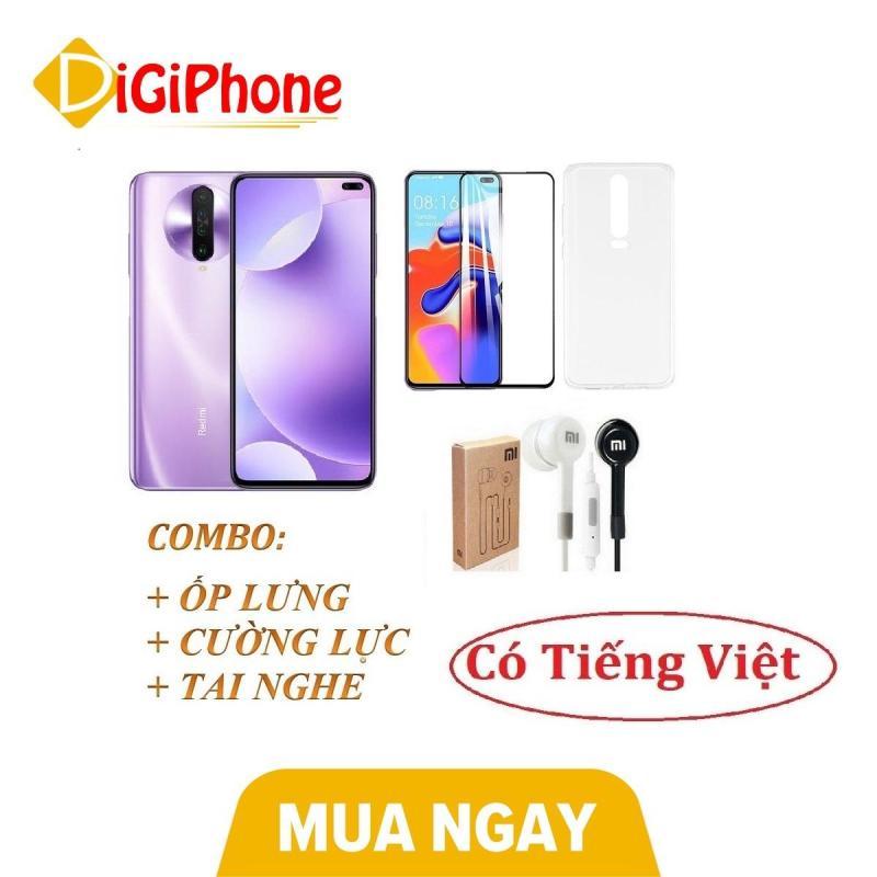 Điện thoại Xiaomi Redmi K30 128GB Ram 6GB tiếng Việt - Màn hình: IPS LCD, 6.67 inches, FHD+ (1080 x 2400 pixels) - Đầy đủ phụ kiện kèm ốp lưng, cường lực, tai nghe - Hàng nhập khẩu - Bảo hành 12 tháng