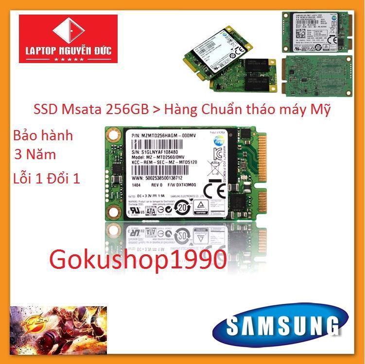Giá Ổ Cứng Cho Laptop SAMSUNG 256Gb Chuẩn Msata (M1) - Hàng Xịn chuẩn tháo máy bảo hành 3 năm