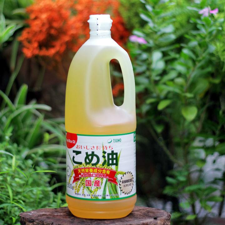 Dầu gạo cao cấp Tsuno 1.5kg Nhật Bản