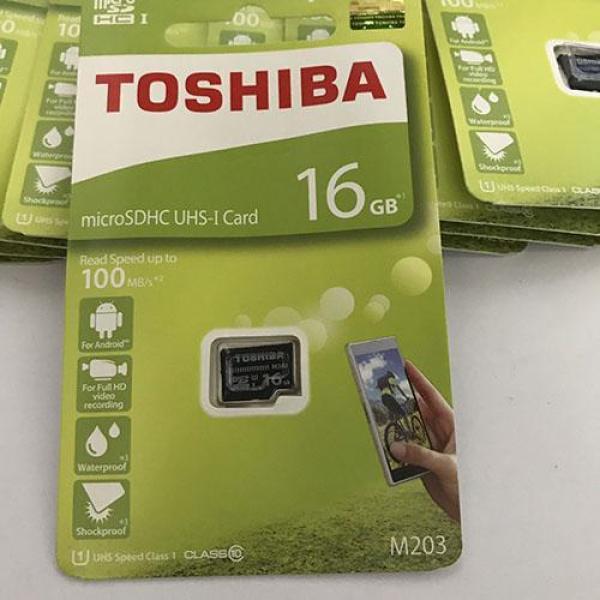 Thẻ nhớ micro SD toshiba 16GB M203 SDHC 100Mb/s(1)