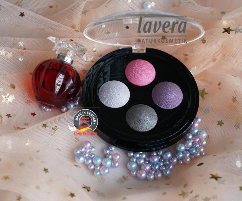 Phấn mắt hữu cơ 4 màu lavera số 02 Lavender Counter cao cấp