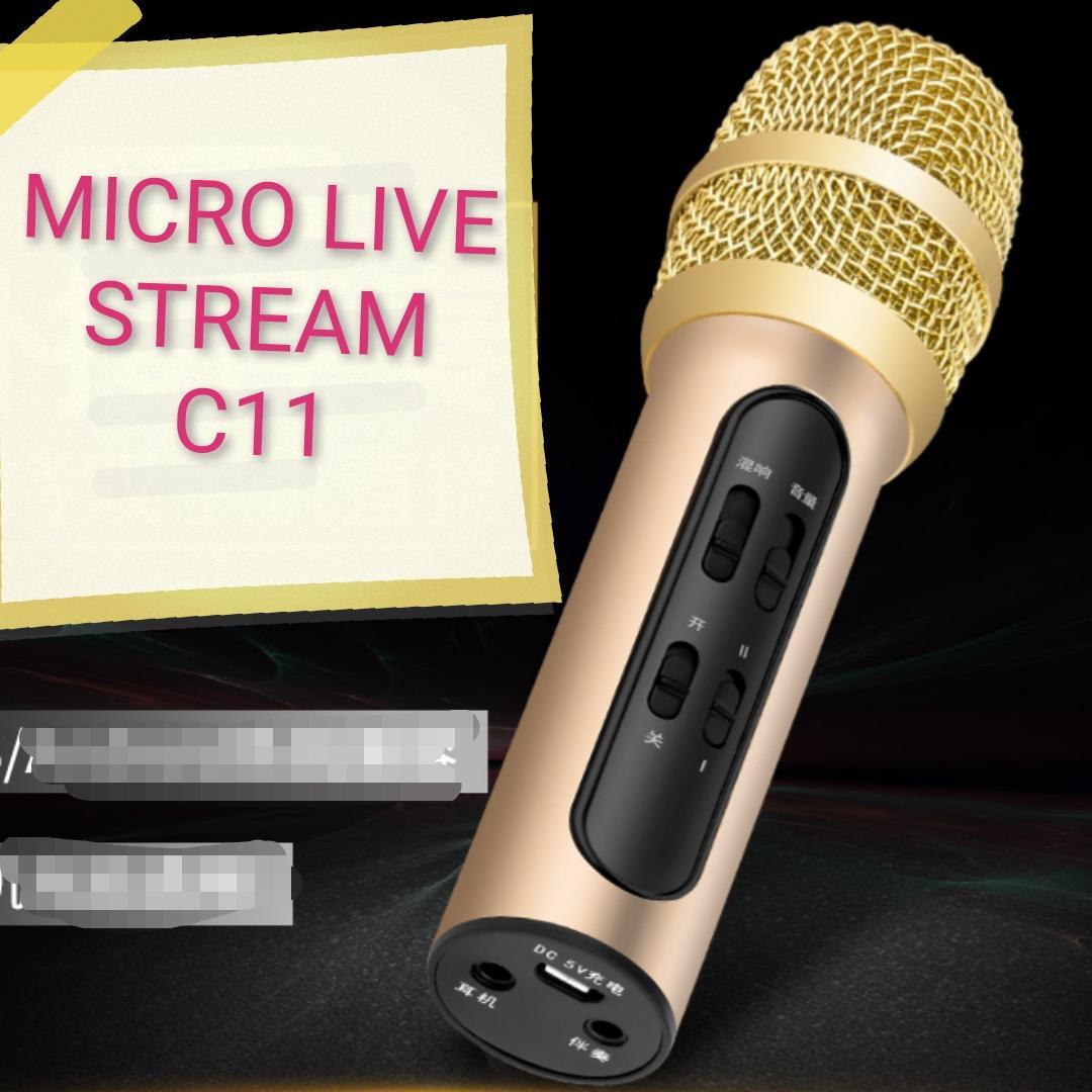 Coupon Giảm Giá Micro C11 Thu âm Live Stream Loại Cao Cấp Kèm Tai Phone Âm Thanh Mạnh Mẽ Kết Nối đơn Gian