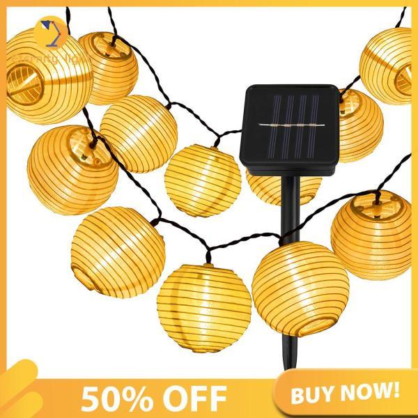 Bảng giá [50% OFF] Đèn LED Dây Năng Lượng Mặt Trời Đèn Lồng Treo Ngoài Trời Đèn Thần Tiên Trang Trí Nghệ Thuật Sân Vườn [Chuyển phát nhanh]