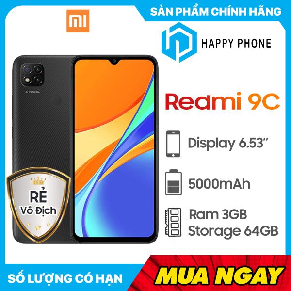 Điện thoại Xiaomi Redmi 9C (64GB/3GB) - Hàng chính hãng, nguyên seal, mới 100%, Bảo hành 18 tháng